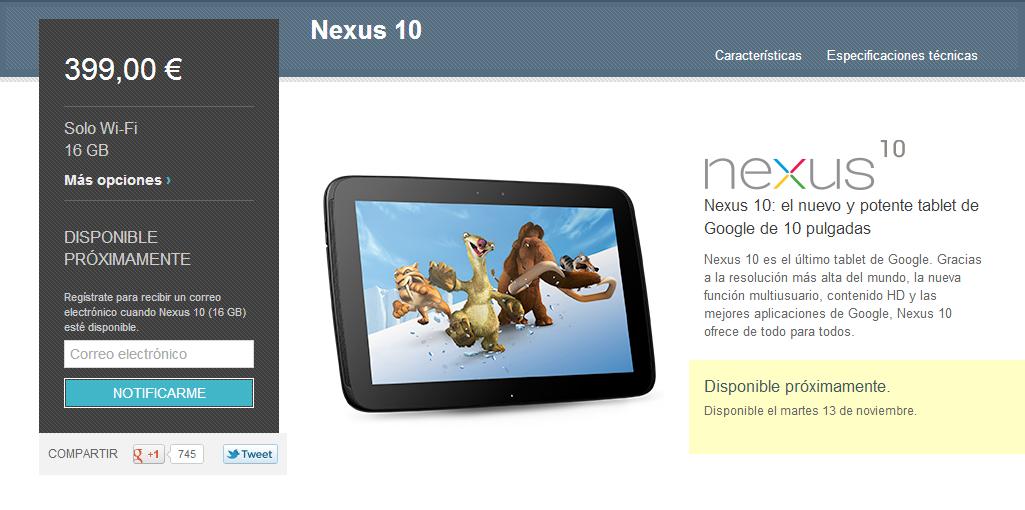 Nuevo Samsung Nexus 10 by Google
