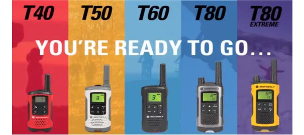 Nuevos Walkies Motorola TLKR T60, T80 y T80 Extreme
