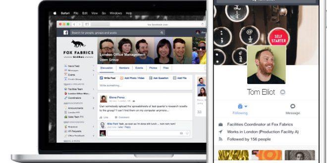 Facebook lanza FACEBOOK AT WORK: Una aplicación de comunicación empresarial